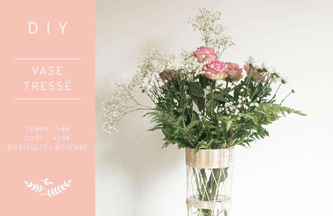 DIY vase tréssé