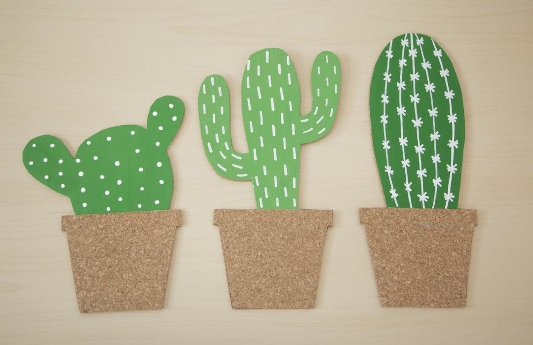 décorer les cactus