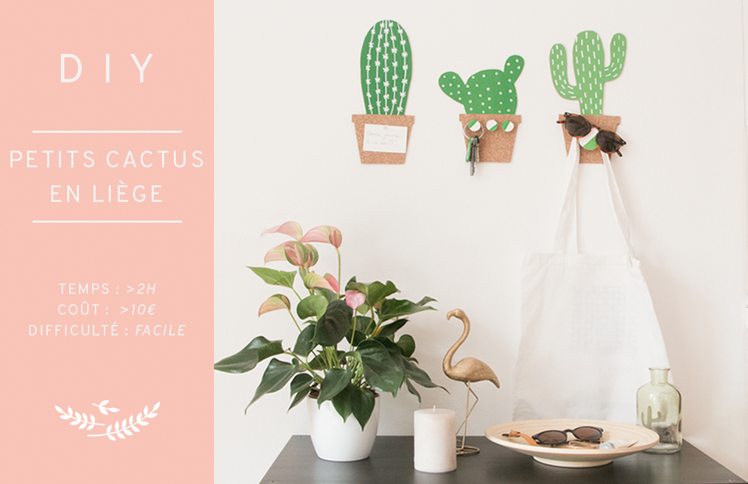 DIY petits cactus en liège