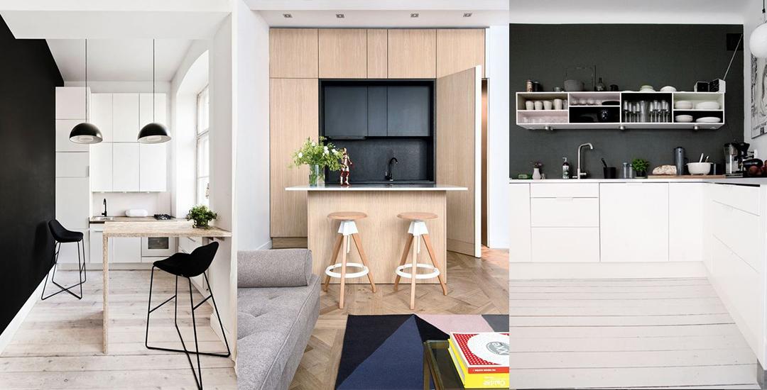 un mur noir dans la cuisine les brindilles inspirations d co. Black Bedroom Furniture Sets. Home Design Ideas