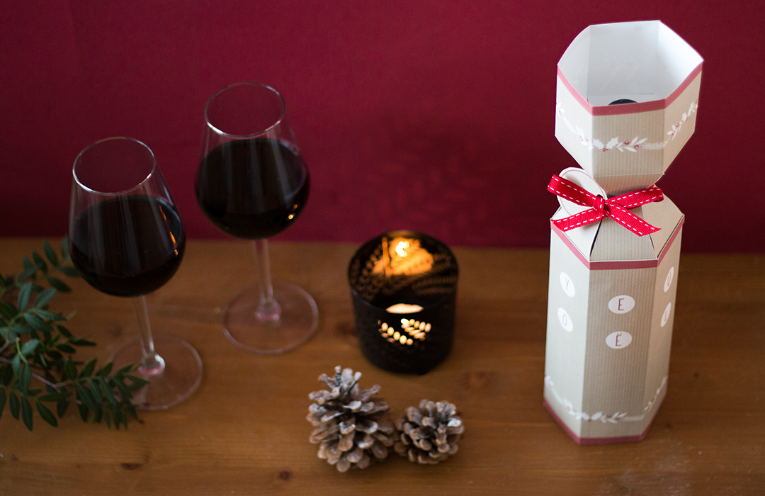 emballage festif bouteille