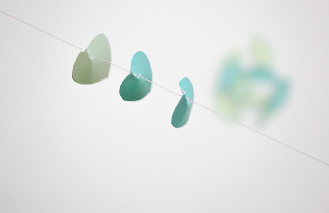 décoration végétale papier