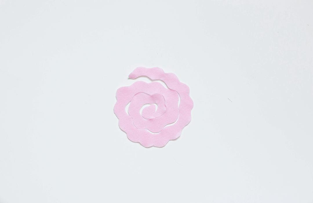 une tenture fleurie