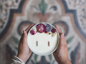 organic cocoon bougies fleuries
