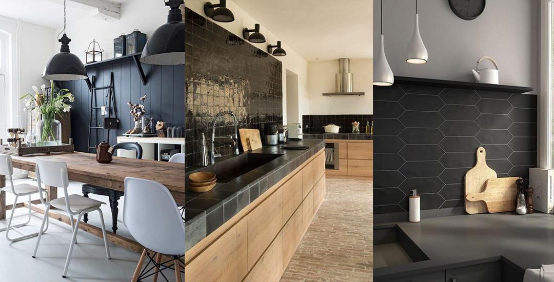 Un Mur Noir Dans La Cuisine Les Brindilles Inspirations Deco